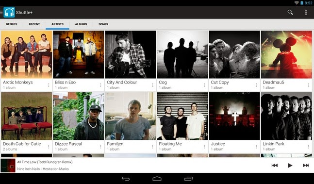 Shuttle+ Music Player android apk - Screenshoot