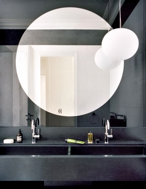 To Da Loos Large Round Mirrors In The Bathroom My