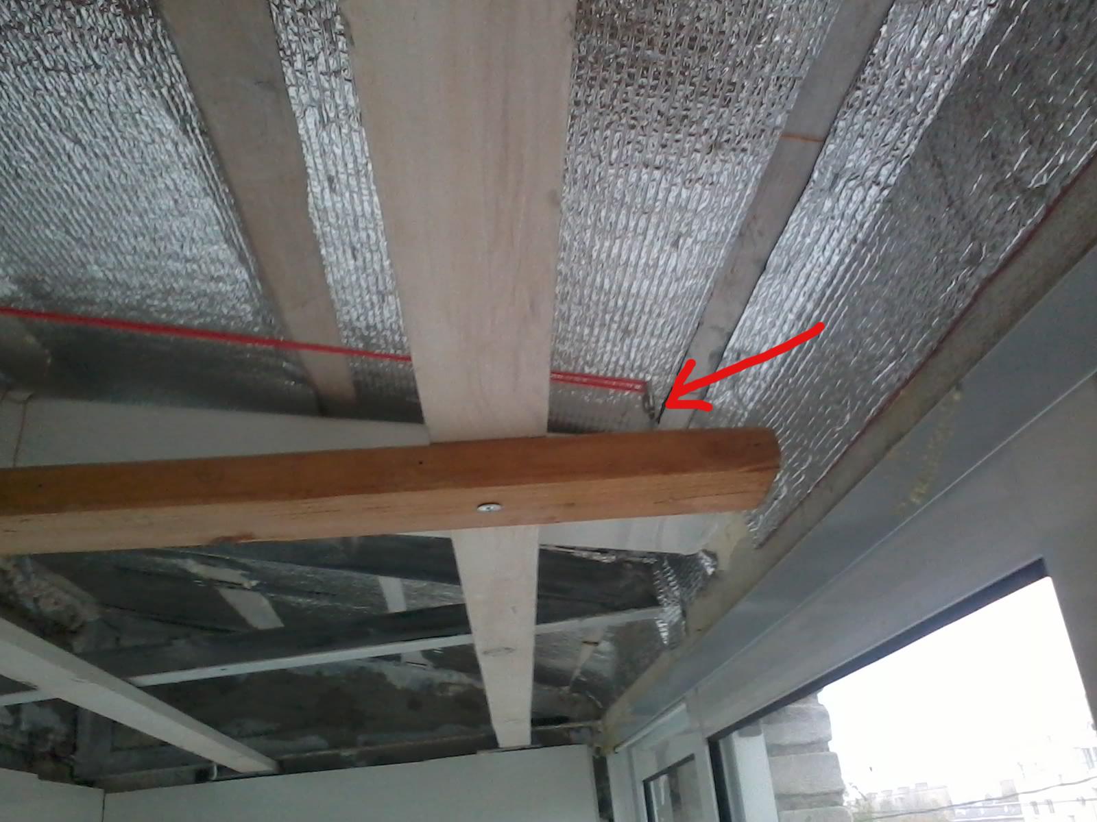 Потолок из пластика на балконе своими руками 40