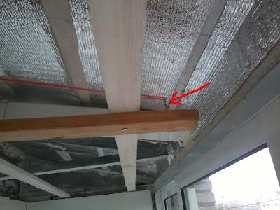 Каркас для потолка на балконе, как закрепить