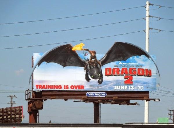How to Train Your Dragon 2 movie billboard