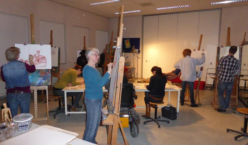 Nieuwe basiscursus tekenen&schilderen&mixedmedia