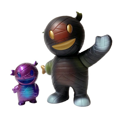 """Mummy Mania"" Mummy Boy Vinyl Figures by Super7 - ""Saturday Night Special"" Mummy Boy by Gian Marayag & ""Spinal Fusion"" Pocket Mummy Boy by Eckotyper"