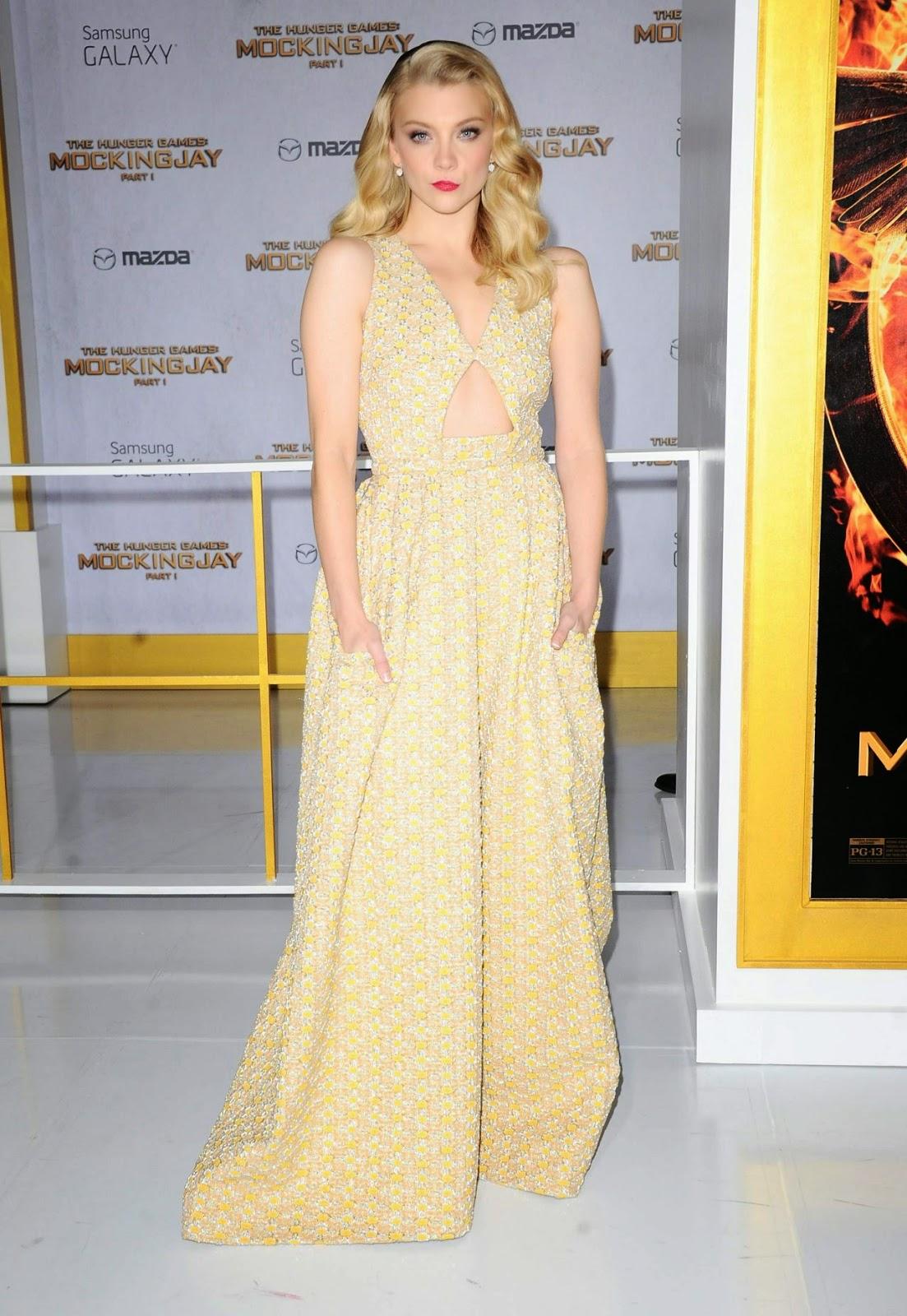 Natalie Dormer flaunts a Rochas gown at The Hunger Games: Mockingjay Part 1 LA premiere