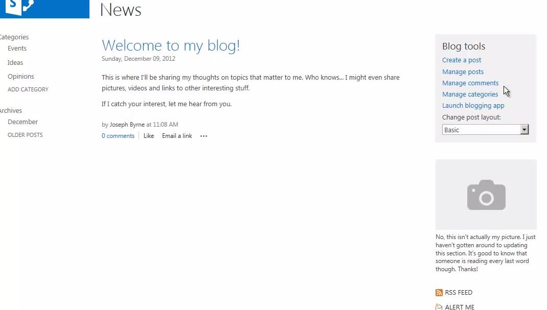 Kate\'s SharePoint Blog: News articles using SharePoint 2013 Blog ...