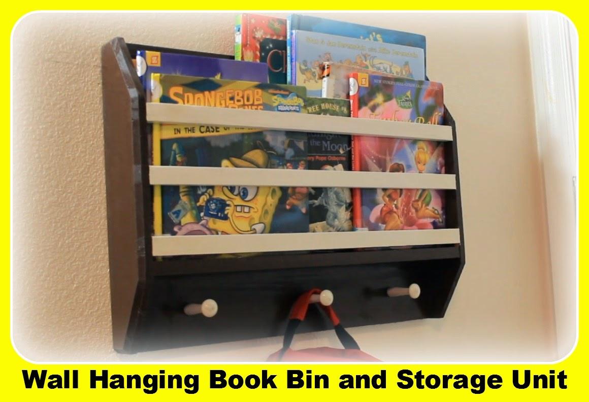 Simply Easy Diy Diy Wall Hanging Book Bin Magazine Rack