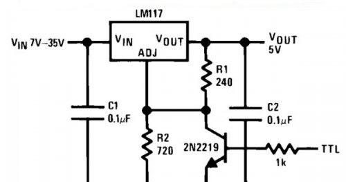 voltage regulator with shutdown digital wiring diagram schematic