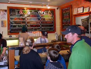 Ice cream parlor at Amy's Ice Cream