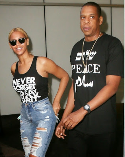 Photos ! Beyoncé rocks shredded jeans on a walk with hubby, Jay-Z