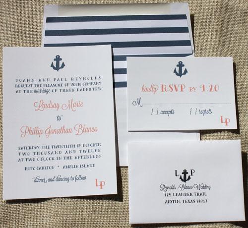 New Design Anchor Wedding Invitation Suite