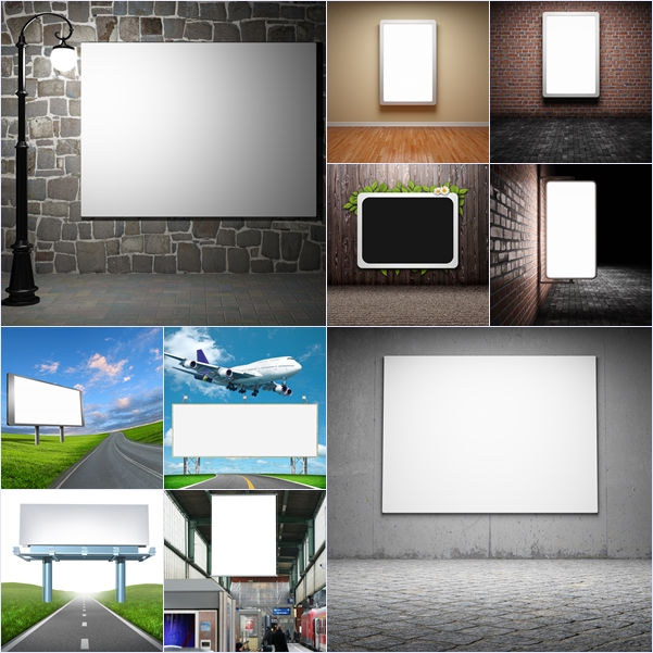 STOCK PHOTO صور عالية الجودة لوحات اعلانات فارغة