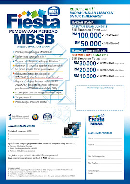 pinjaman peribadi MBSB