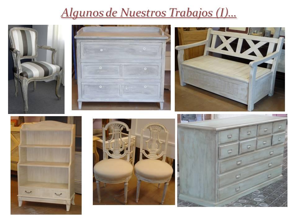 Candini muebles pintados nuevos y redecorados - Muebles decapados en blanco ...