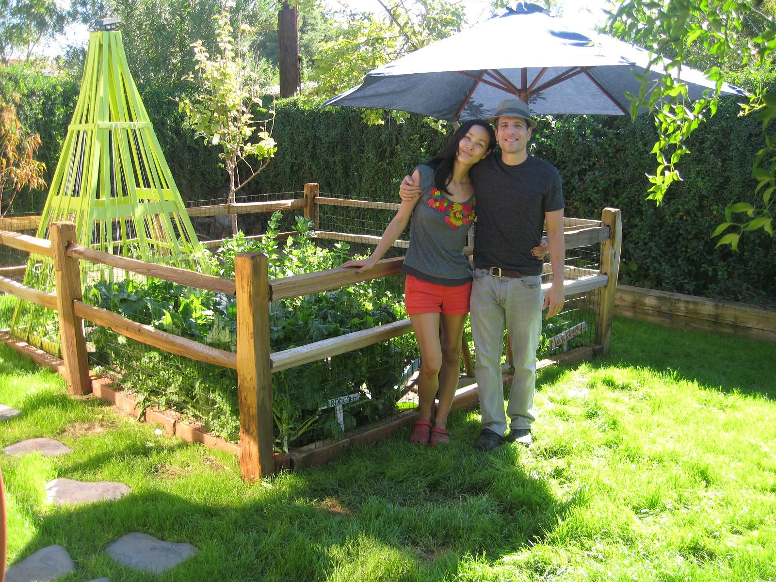 A Closer Look Inside Their Fenced Garden.