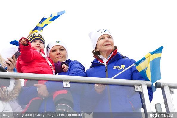 Princess Estelle of Sweden, Crown Princess Victoria of Sweden, Queen Silvia of Sweden and Crown Prince Haakon of Norway, Crown Princess Mette-Marit of Norway and Prince Sverre Magnus of Norway, Princess Ingrid Alexandra of Norway