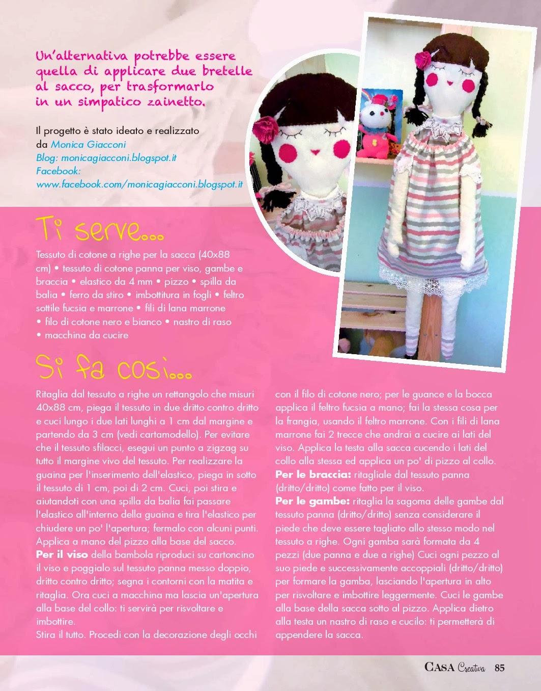 Bambola sacco porta-pigiama