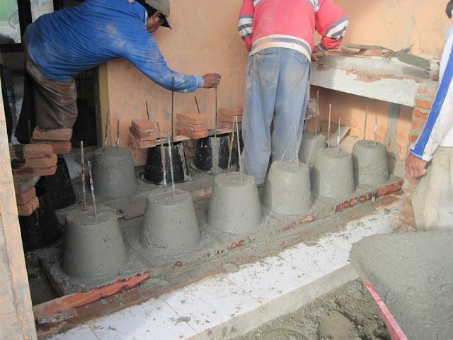 pengecoran umpak beton precast