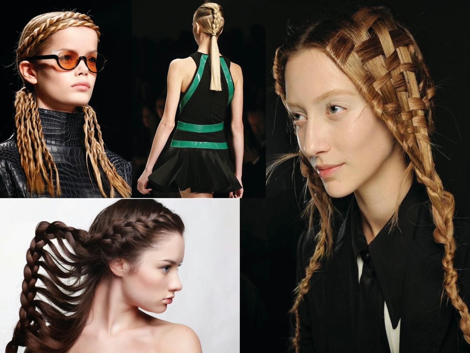 Model  Rambut Hitam Berkepang Dua