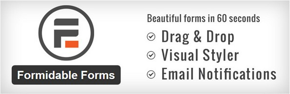 Formidable Forms custom form plugin for WordPress
