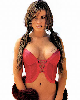 Carmen Electra hot modeling red bustier Hi Def high quality picture