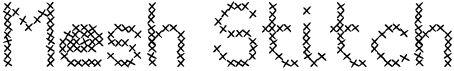 Mesh stitch tipografías gratis