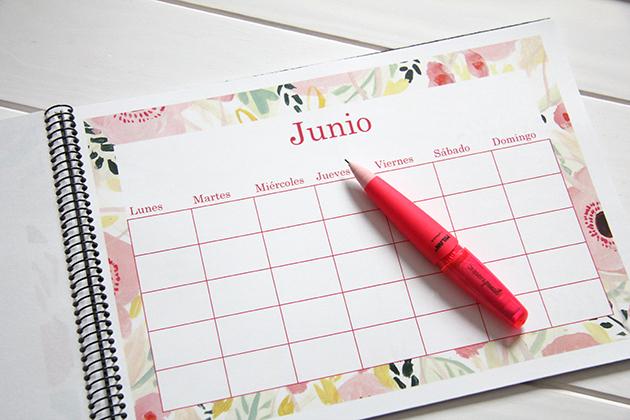 DIY calendario planificador