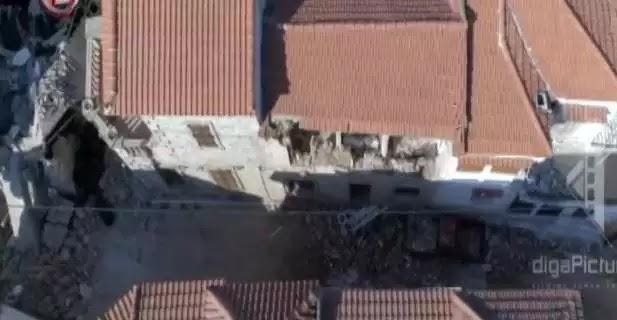 «Βομβαρδισμένο» τοπίο η Βρίσα Λέσβου –Απίστευτες εικόνες από drone μετά τον σεισμό [βίντεο]