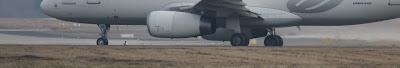 Flugzeug runway fahrwerk