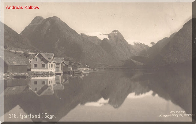 The view of Fjærland taken in 1910. Photo: Vogelfoto69.