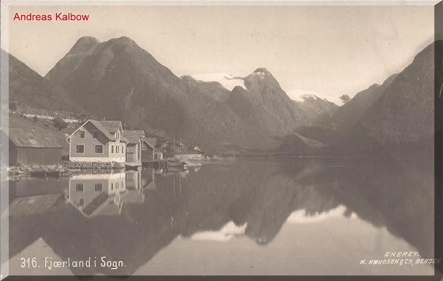 The view of Fjærland taken in 1910. Photo: Vogelfoto69.