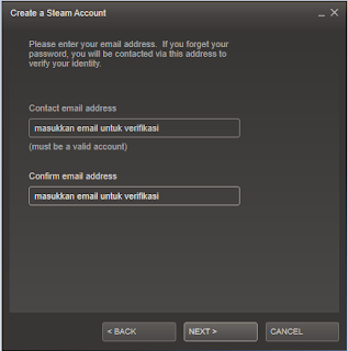 Tutorial membuat id Steam 3