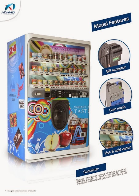 cup vending machine features