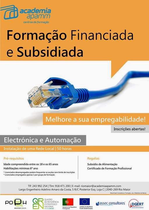 Formação financiada e subsidiada em Rio Maior (2014)
