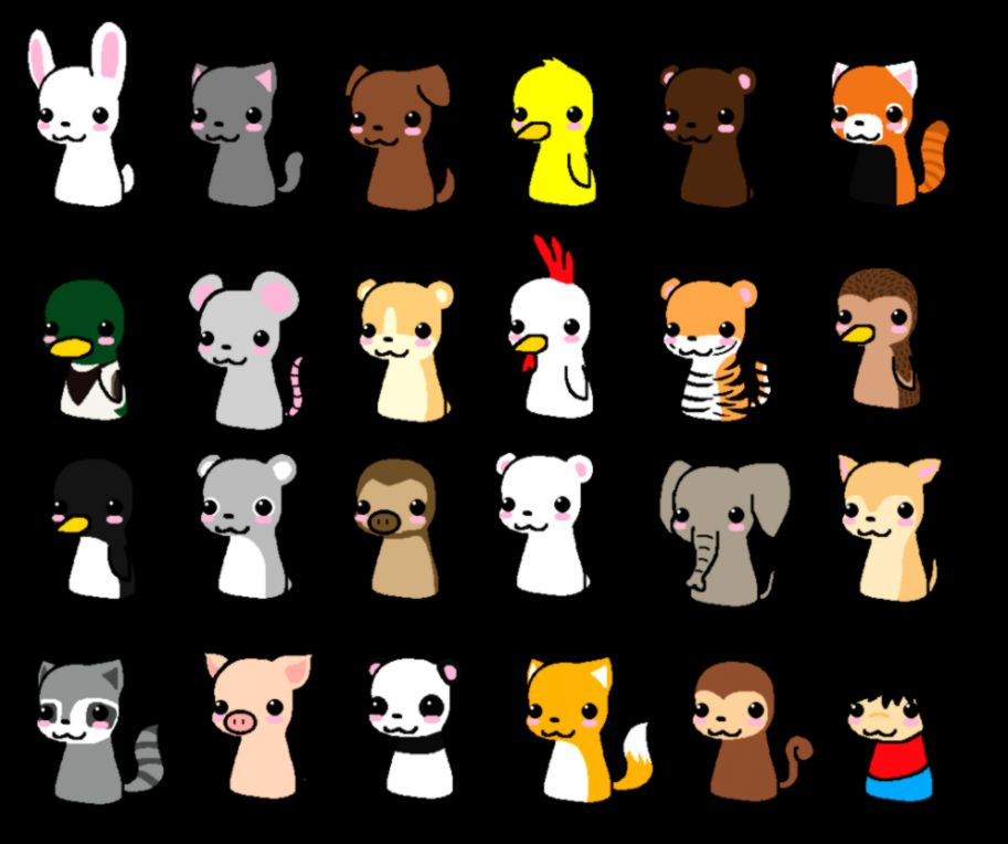 Chibi Wallpaper: Cute Chibi Animals Wallpaper