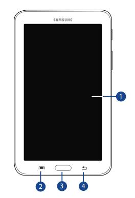 Samsung Galaxy Tab 3 Lite 7: Front View