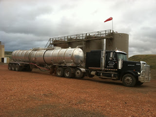 Olson & Olson Transport Crude Oil Tanker in the Bakken