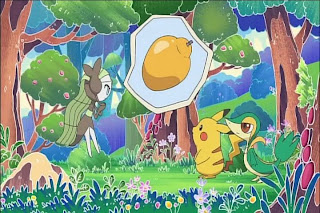Pokemon OVA Sing Meloetta : Search for the Rinka Berries Magazine Chao Aug 2012