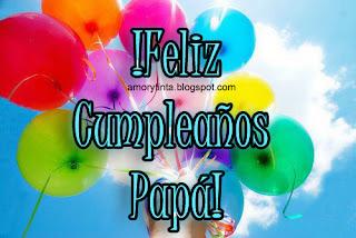 tarjeta con globos de colores de cumpleaños para papá