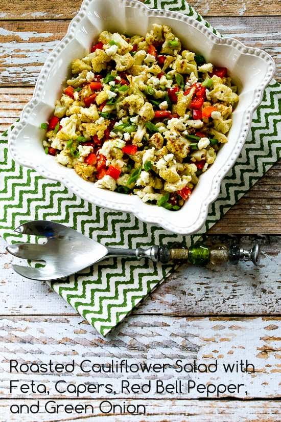... Cauliflower Salad with Feta, Capers, Red Bell Pepper, and Green Onion