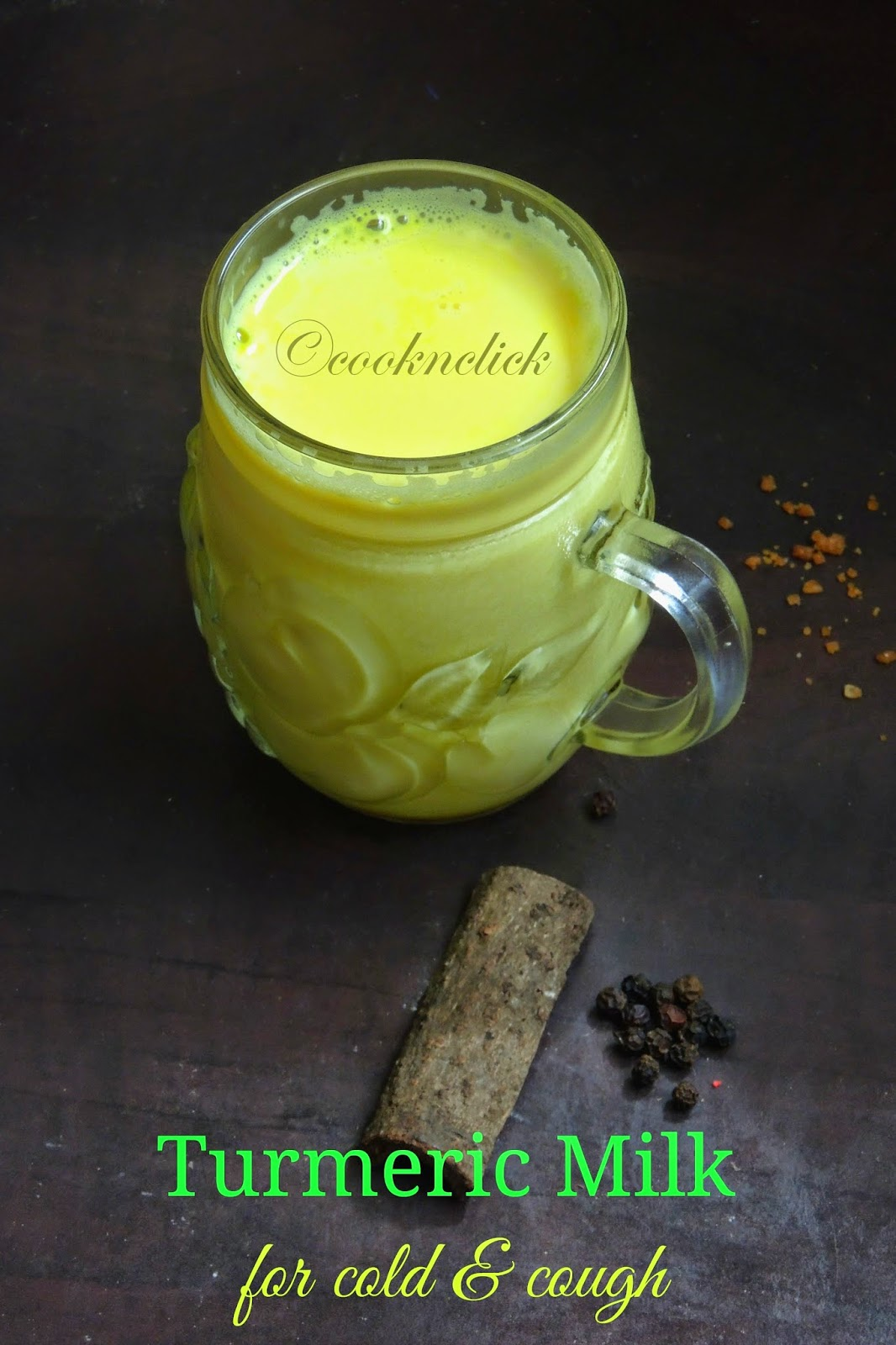 Turmeric milk for cold and cough