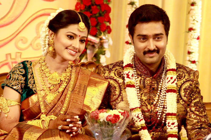 Sneha and Prasanna Wedding Reception Stills function pics
