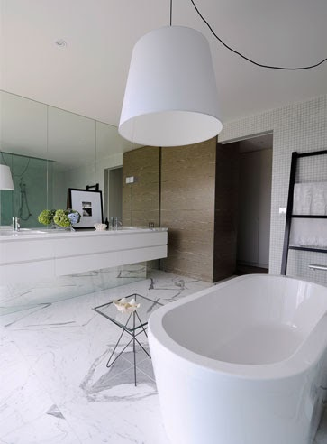 Now it s not just the mirrors that make it spectacular  They have to be  combined with some gorgeous flooring  After all it s what s being reflected  in the. To da loos  Gorgeous floor to ceiling mirrors behind the bathroom