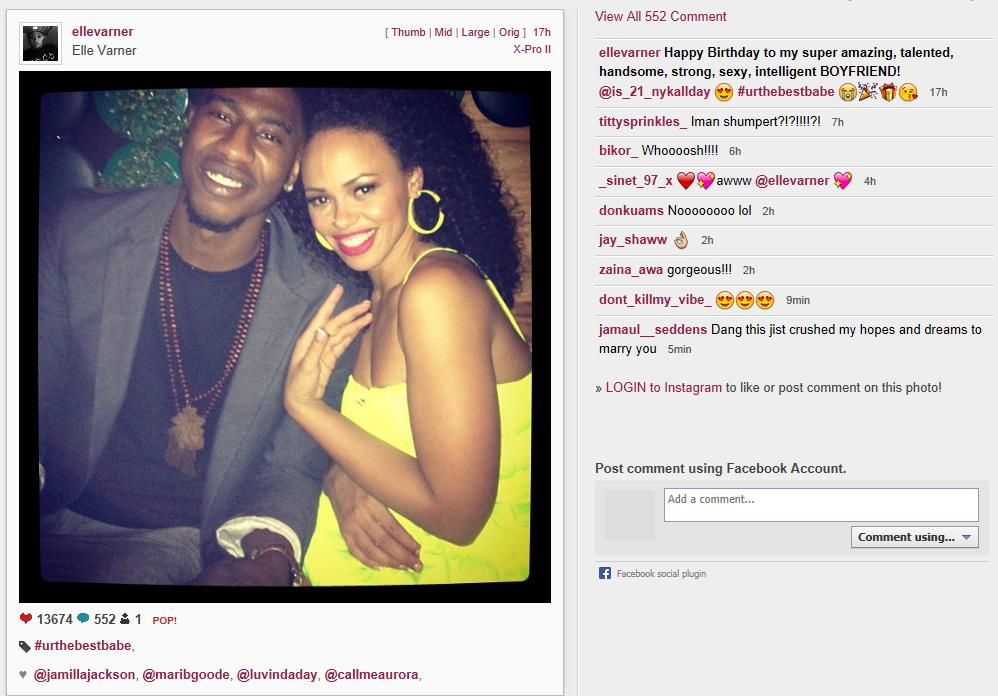 Funny Instagram Captions For Couples : Displaying 19 Gallery Images For Elle Varner Iman Shumpert