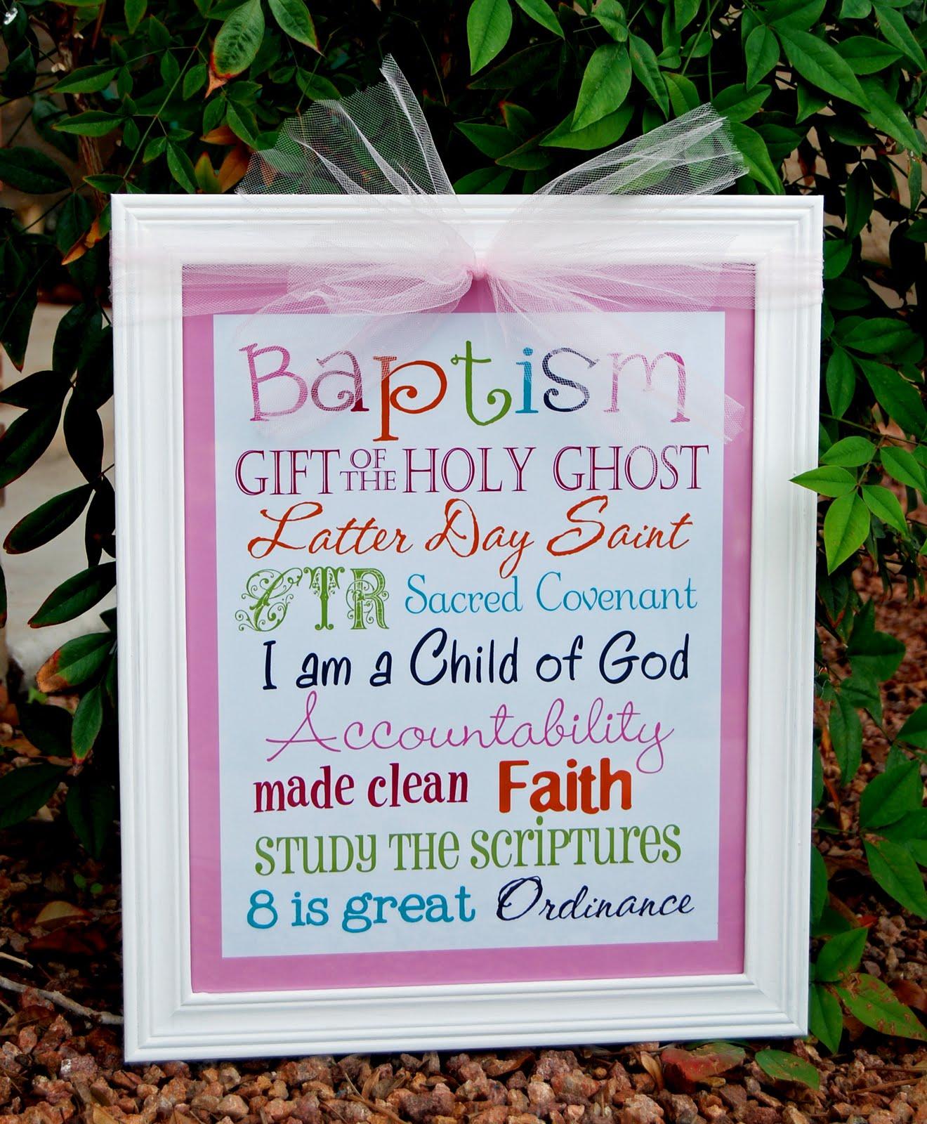 A Pocket full of LDS prints: Baptism Subway Art