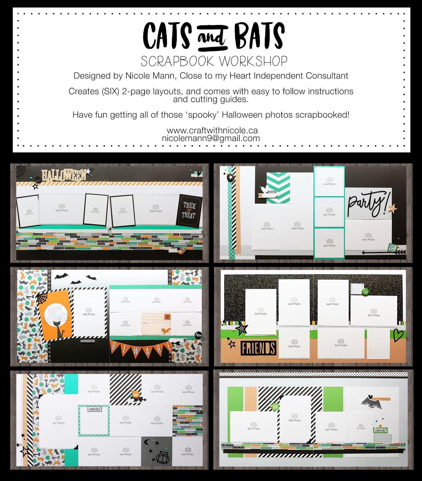 CATS & BATS Scrapbook Workshop