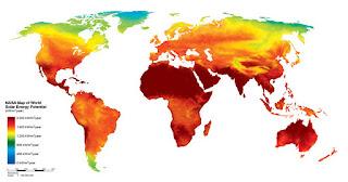 mapa de la energia solar