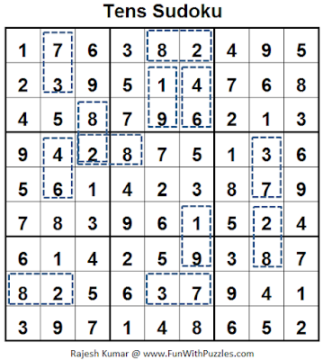 Tens Sudoku (Fun With Sudoku #54) Solution