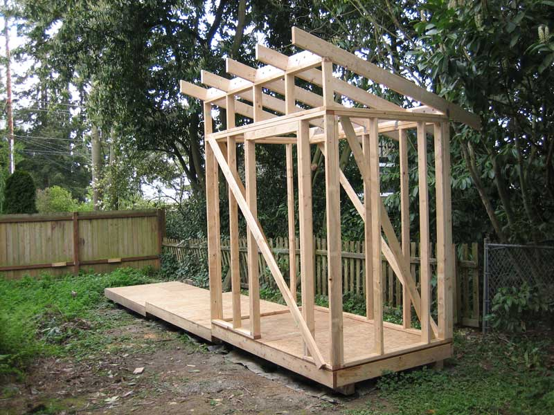 Shed roof framing sheds plan for building for How to build a sloped roof shed