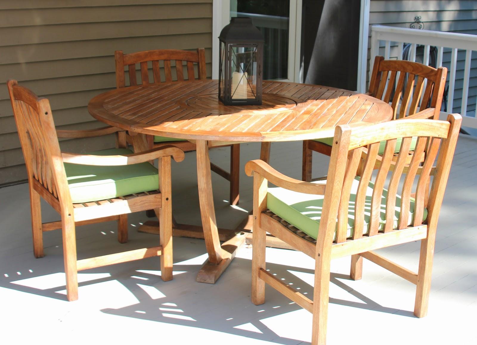 Shine Your Light Cleaning Sealing Outdoor Teak Furniture