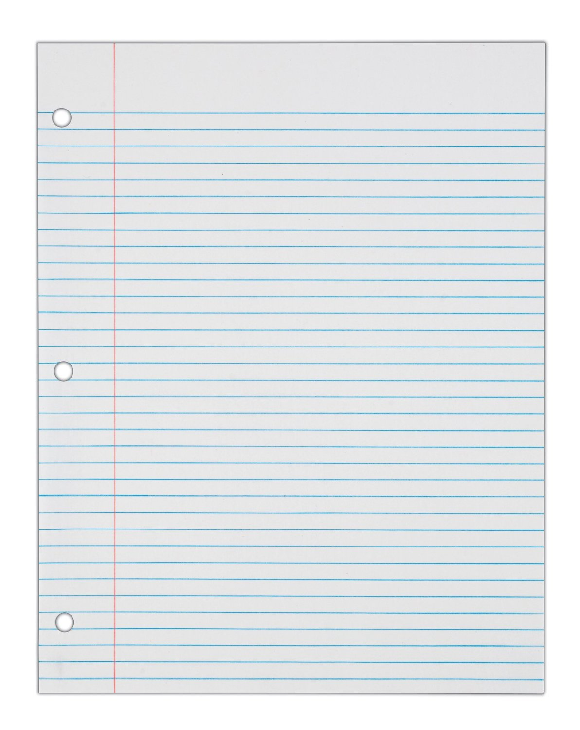 college ruled lined paper template – Loose Leaf Paper Template